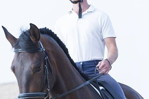 boy rider on horseback