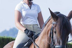 girl rider on horseback
