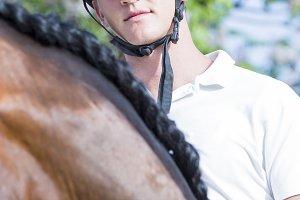 male rider portrait
