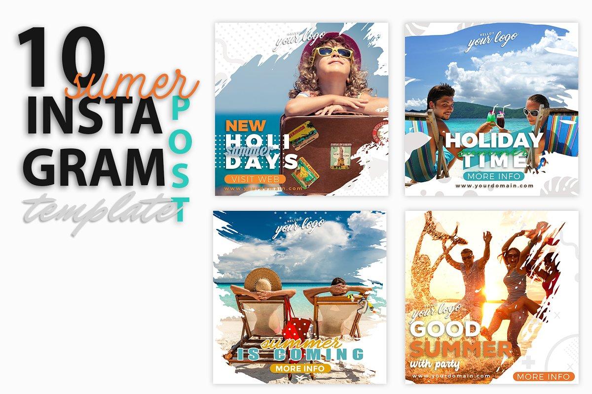 instagram Post Template-Summer