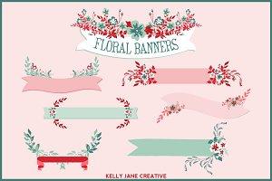 Floral Banners, Laurels, Bouquets
