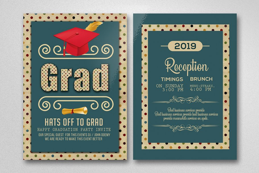 Double Sided Graduation Invitation