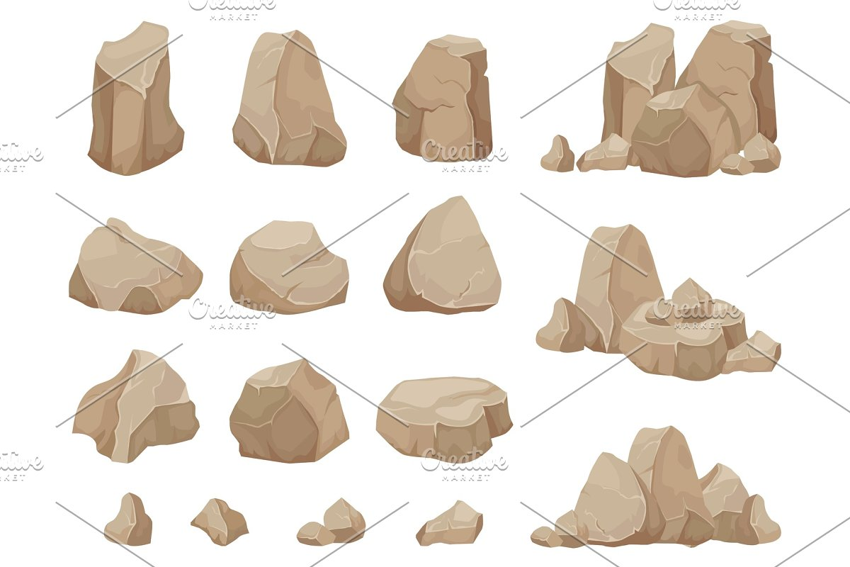 Stone rock  Stones boulder, gravel
