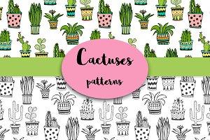 Cute Cactuses Pattern Vector art