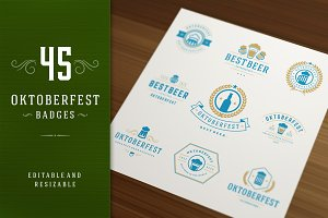 45 Oktoberfest badges and logos