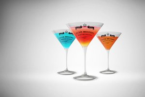 Glass Mockup - Martini Glass Mockup