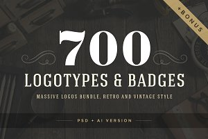 700 logos and badges bundle