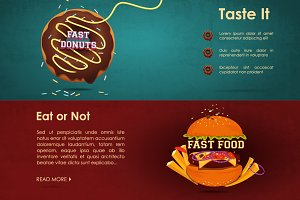Fast food menu - vector illustration