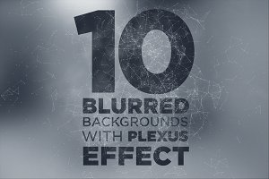 10 Blurry Backgrounds +Plexus Effect