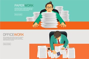Businessman working with paperwork