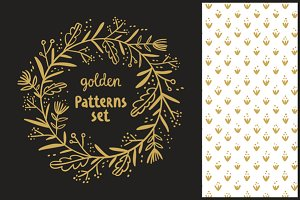 Golden and silver patterns set