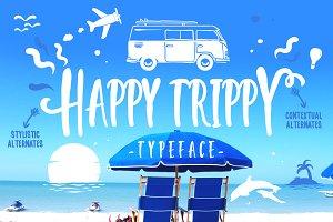 Happy Trippy Typeface