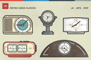 Retro Desk Clocks