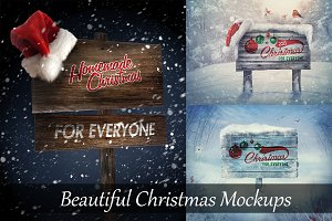Christmas Wooden Mock-Up