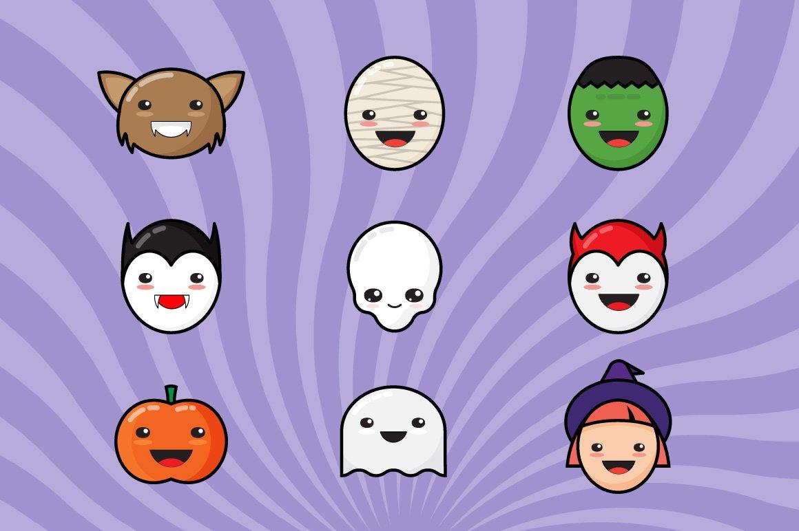 9 Сute Kawaii Halloween Icons ~ Icons ~ Creative Market