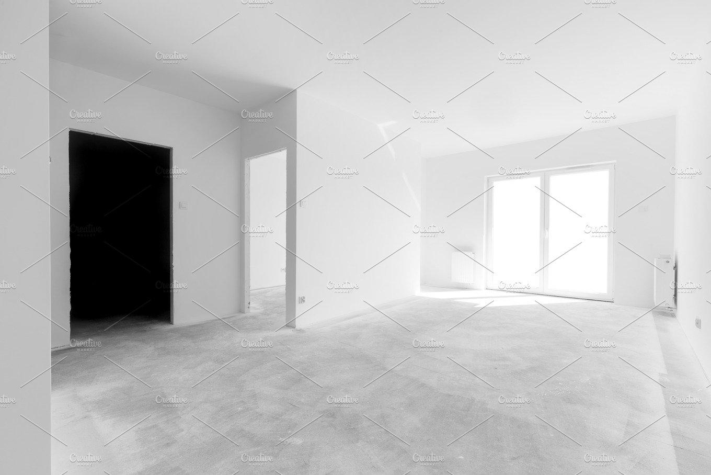 empty new apartment rooms architecture photos creative market
