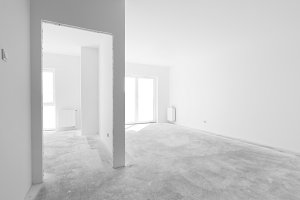 Empty new apartment rooms