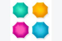 Umbrella Set. Vector