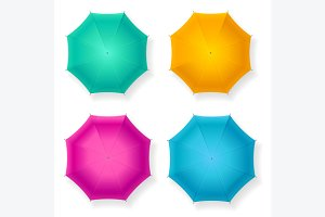 Umbrella Set. Vector