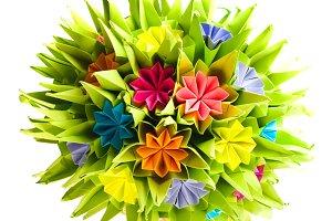 Colorfull origami kusudama