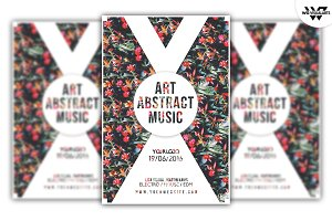 ART ABSTRACT MUSIC Flyer Template