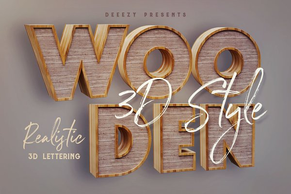 41e04b906 Graphics - Wooden – 3D Lettering