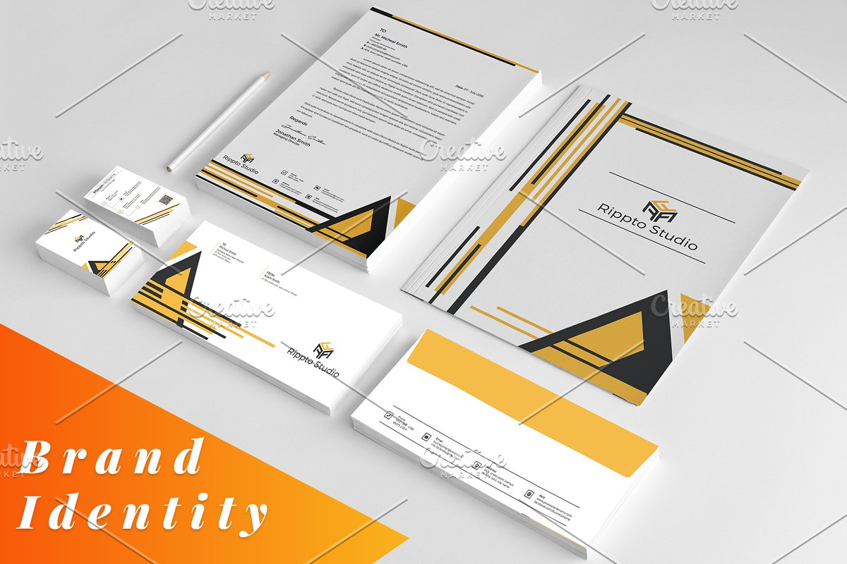 Brand Identity Stationery Template