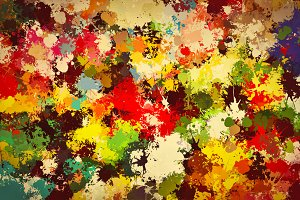Colorful paint splashes. Vintage