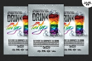 DRINK PARTY Flyer Template
