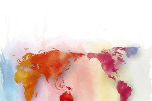 Watercolor World map v.2