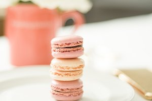 Happy Macarons | Stock Image