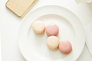 Pink Macarons & Gold iPhone