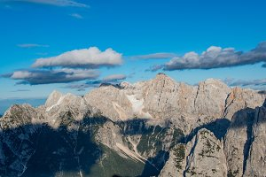Beautiful mountain panorama in Alps