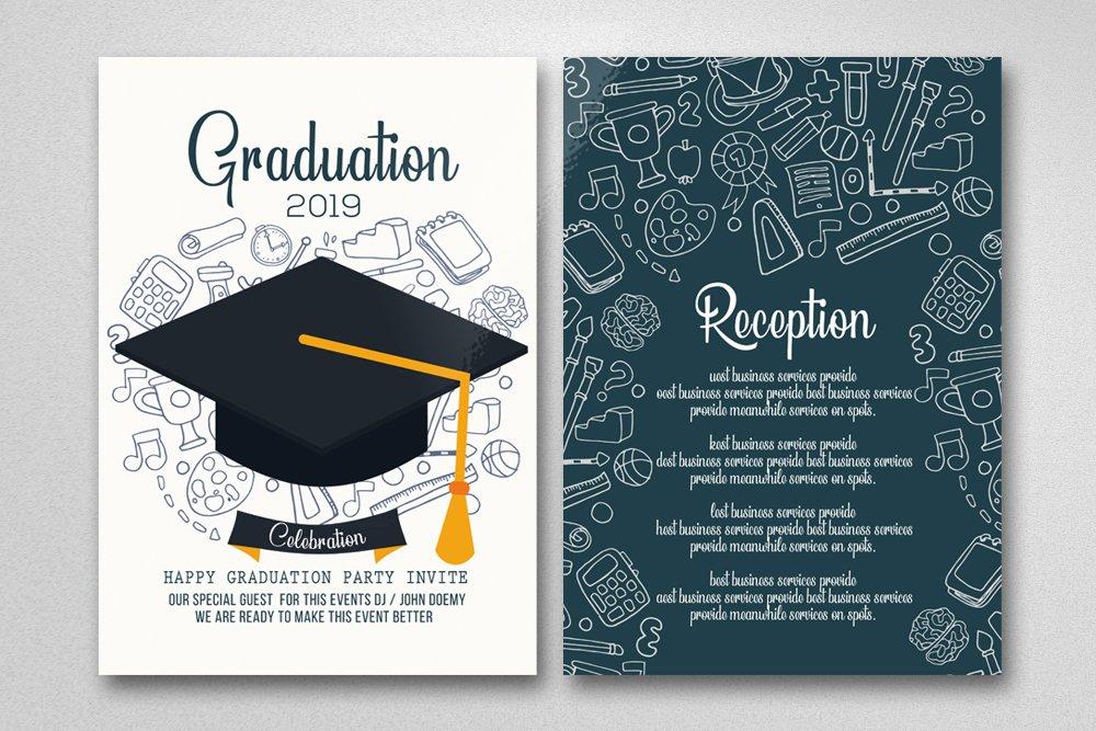 graduation invitation card  creative photoshop templates