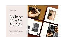 Melrose – Creative Portfolio by  in Brochures