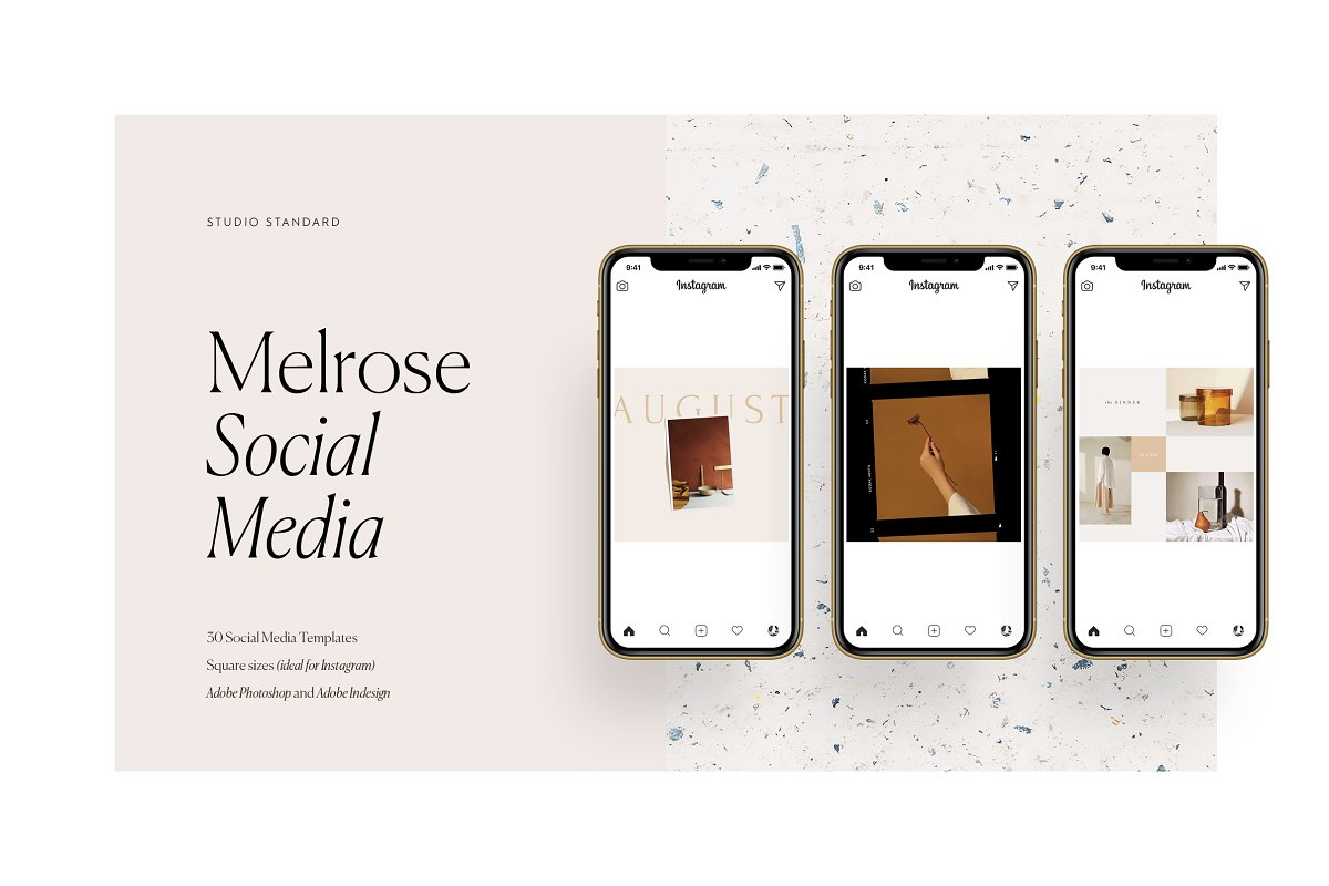 Melrose Social Media Pack in Instagram Templates - product preview 8