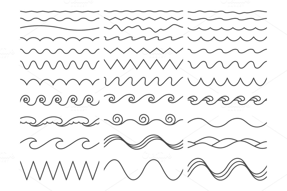 Wavy lines  Wiggly border, curved