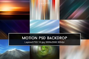 Motion Lights PSD Backdrop