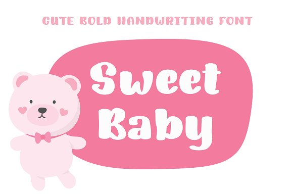 Sweet Baby | Bold Handwriting Font in Display Fonts - product preview 4