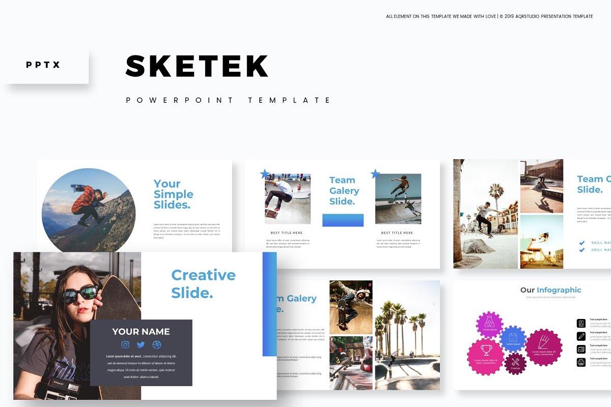 Sketek - Powerpoint Template in Presentation Templates