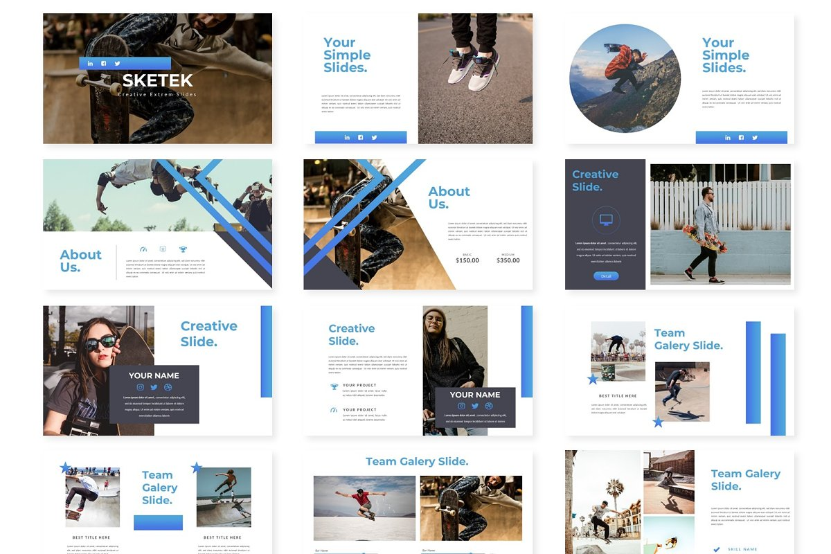 Sketek - Powerpoint Template in Presentation Templates - product preview 1