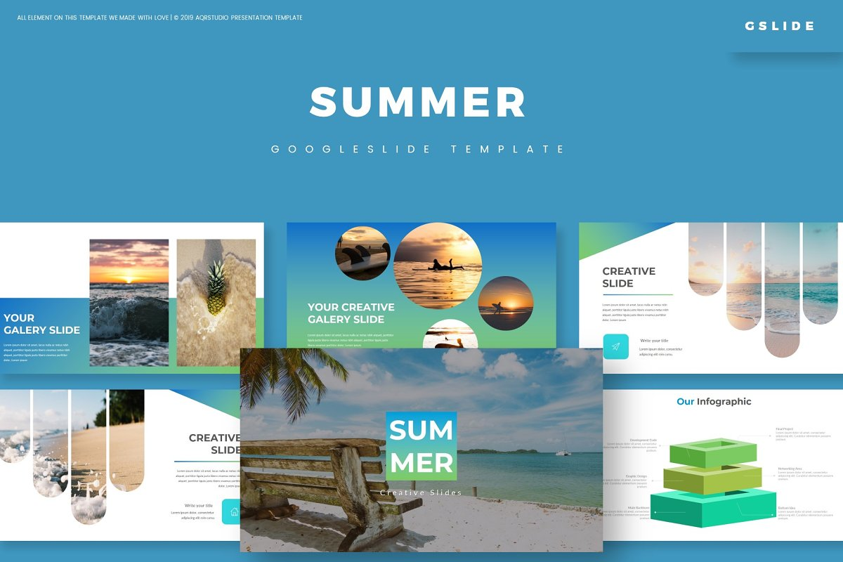 Summer - Google Slides Template in Google Slides Templates - product preview 8
