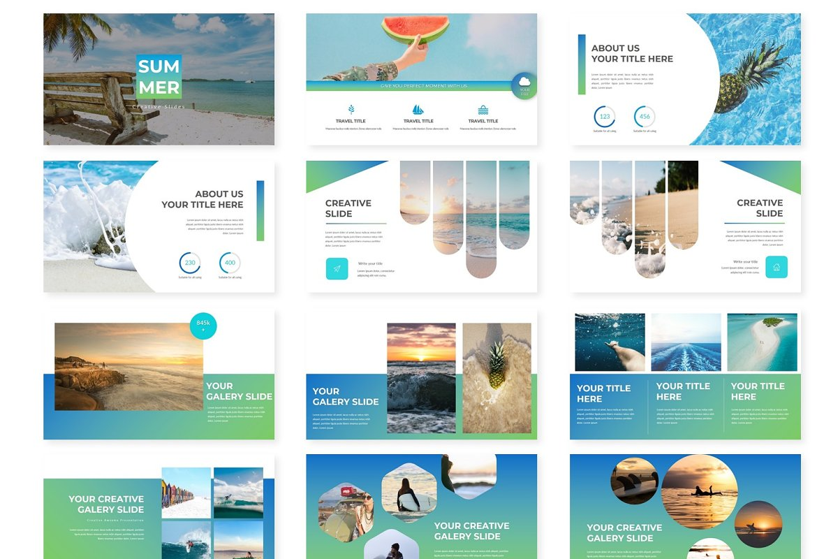 Summer - Google Slides Template in Presentation Templates - product preview 1