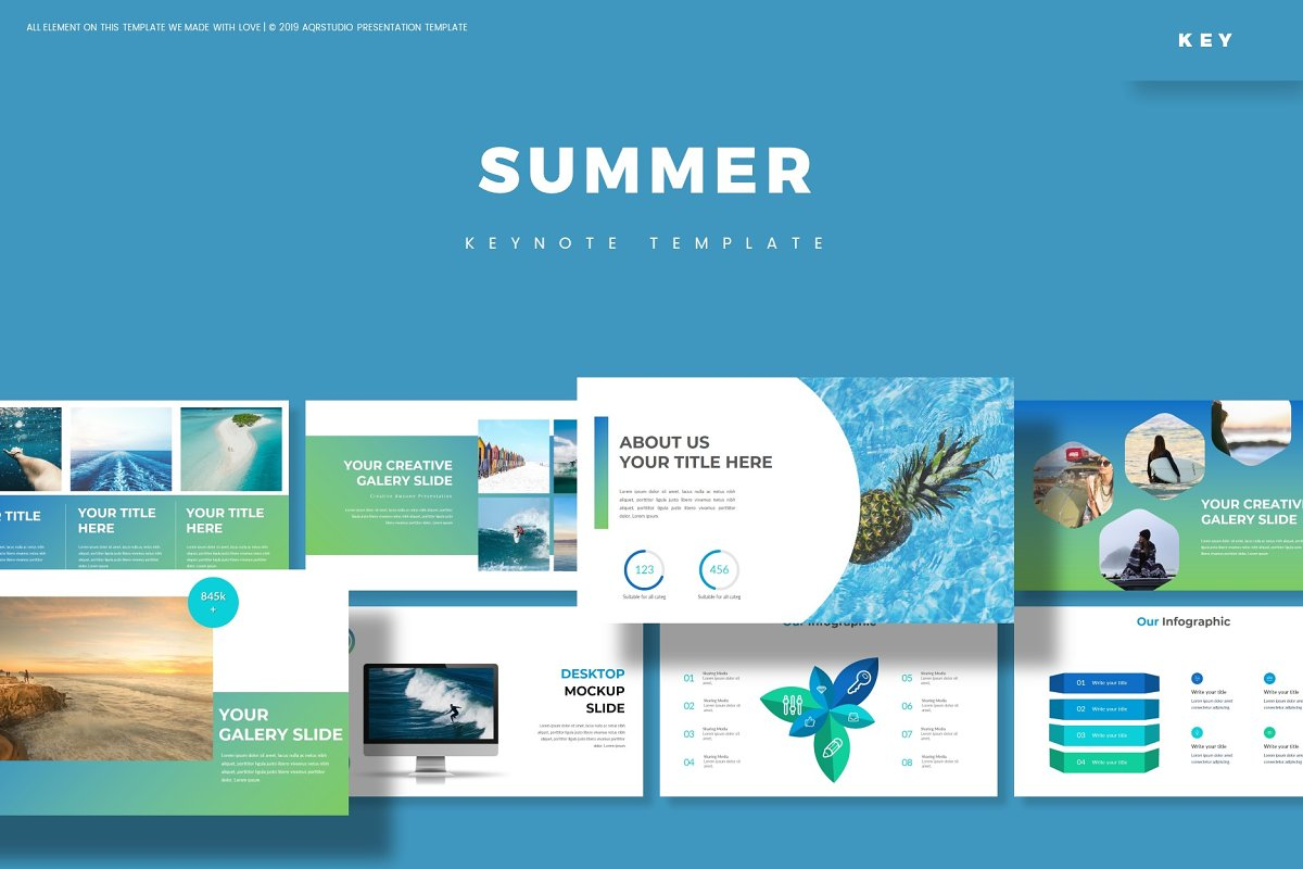 Summer - Keynote Template in Keynote Templates - product preview 8