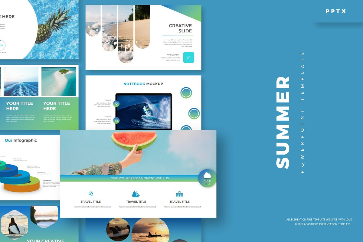 Summer - Powerpoint Template in PowerPoint Templates - product preview 8