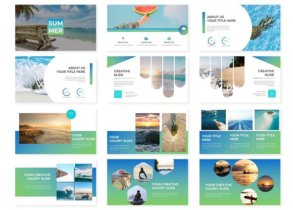 Summer - Powerpoint Template in PowerPoint Templates - product preview 1