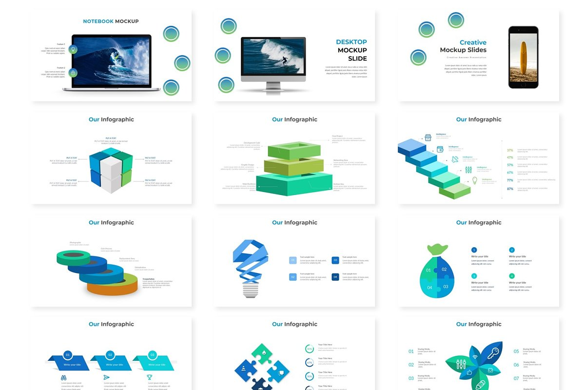 Summer - Powerpoint Template in Presentation Templates - product preview 2