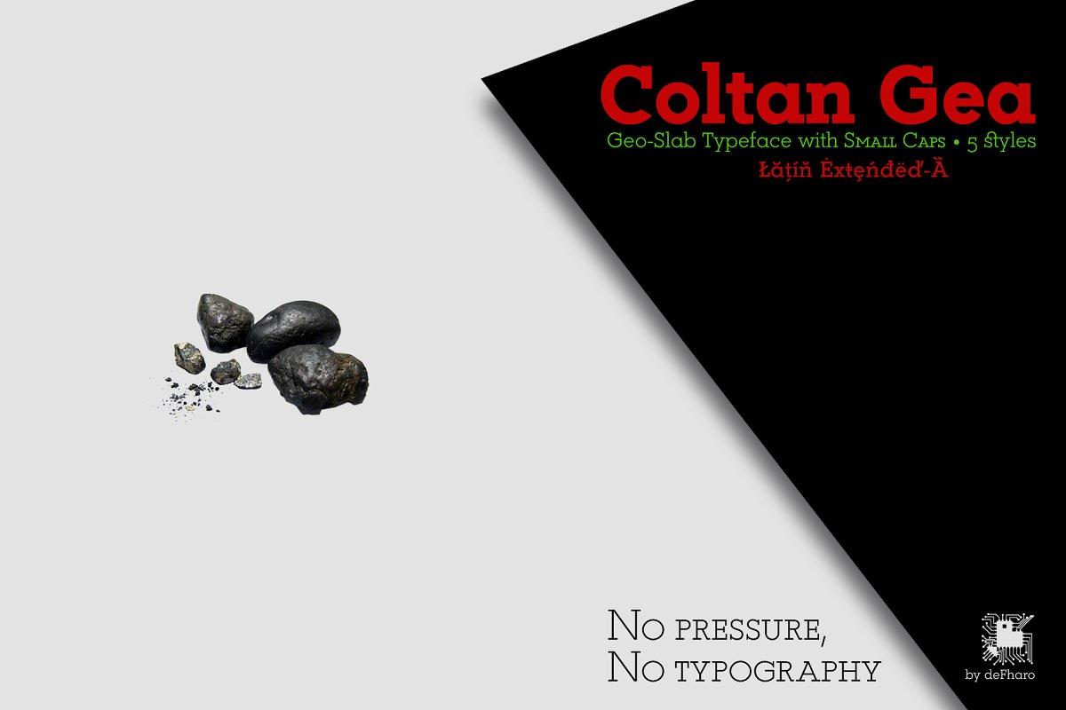 Coltan Gea Slab -5 fonts-