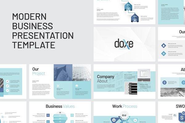 Doxe Business Keynote Presentation Creative Keynote Templates Creative Market