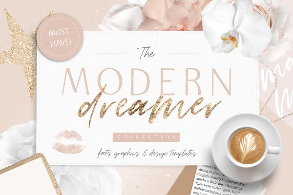 Modern Dreamer Font Bundle